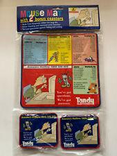 New ListingTandy Electronics Vintage Mouse Mat & 2 Bonus Coasters