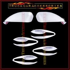 For NISSAN Altima 2013-2015 Chrome Covers Set FULL Mirrors+4 Door BOWL PLATES