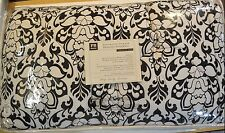 5 Pcs Pottery Barn Teen Damask Bedding Set Comforter Sheets XL Twin Black #143