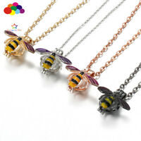 Aroma Diffuser Colored wasp Necklace Lockets Perfume Essential Oil Aromatherapy