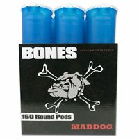 Maddog 150 Round BONES Paintball Pod - Aqua - 6 Pack FREE Expedited Shipping