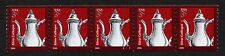 United States, Scott # 3759, Coil Strip Of 5 Stamps Pnc #S1111 Silver Coffeepot