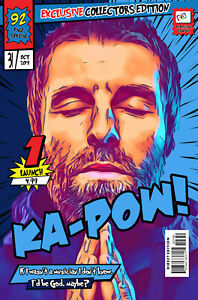 Liam Gallagher Comic Book Covers Art Print (Available In 4 Formats)