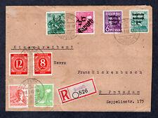 1948 Germany Soviet Zone HOP, Bezirk 36 CAPUTH, Registered Cover