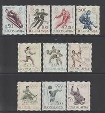 YUGOSLAVIA - 1968 Olympics Mi 1262/5 + 1290/5 Mint Hinged (2052)
