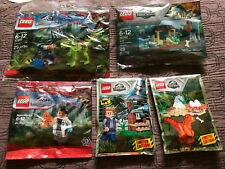 LEGO Jurassic World Polybags 30382 30320 Dr. Wu Two Foils Packs ALL NEW (5 bags)