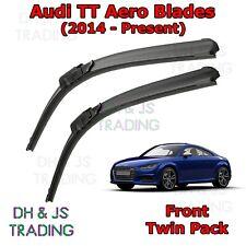 (14-19) Audi TT Aero Wiper Blades Windscreen Window Flat Front Coupe Roadster