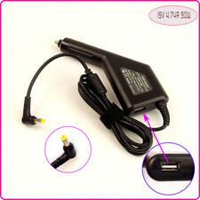 Notebook DC Power Adapter Car Charger +USB for Acer PA-1900-34 HIPRO HP-A0904A3