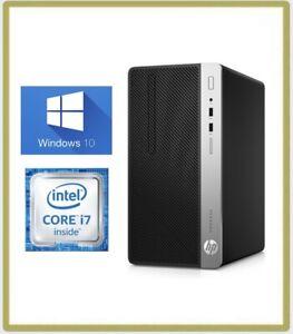 HP ProDesk 400 G4 MT PC Intel Quad i7 7th Gen 7700 3.60GHz 8GB 1TB Win 10 1A77
