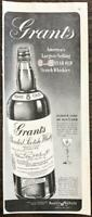 1947 Grant's Blended Scotch Whisky Print Ad Famous Lore of Scotland