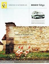 PUBLICITE ADVERTISING 016  2002  RENAULT   la Twingo 16 soupapes