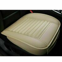 Beige Car SUV Front Seat Cover PU Leather Breathable Cushion Mat Pad Universal