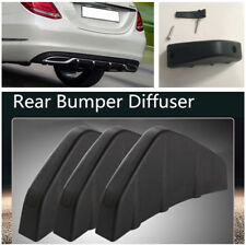 4Pcs PVC Car Rear Bumper Diffuser Molding Point Garnish Black Shark Fins Shape