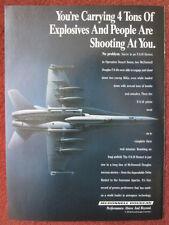 1992 PUB MCDONNELL DOUGLAS F/A-18 HORNET DESERT STORM ORIGINAL AD