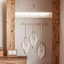 Macrame Wall Hanging Woven Wall Feather Tapestry Boho Handmade Living Room Decor