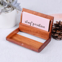 1pc Redwood Name Card Business Card Holder Handmade Box Storage id credit case X