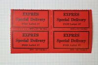 Express Expres Special Delivery POD Label 57 GPO Stamp block etiquette Mint