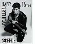 PERSONALISED SHAWN MENDES A5 BIRTHDAY CARD ANY NAME AGE OR GREETING OCCASION