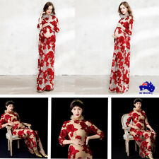 Pregnant Women Lace Maternity Long Embroidery Dress Maxi Gown Photography Photo