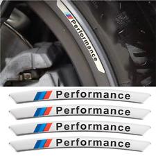 4x Alloy M Performance Wheels Rim Sticker Set for BMW Silver