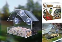 Glass Window Bird Wild Feeder Garden Display Peanut Seed Feed Tray Suction Cups