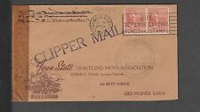 KAPPYSSTAMPS KS1657 POSTAL HISTORY SC# 815 FLOWN CHINA CLIPPER HI / DES MOINES