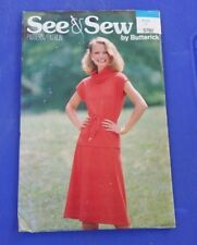 VINTAGE SEE & SEW  COWL NECK TOP SKIRT PATTERN 5782 SIZE 12 FREE SHIPPING