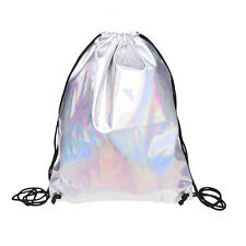 Shiny Hiking Gym Bag Backpack School Bookbags holo graphic smooth String Ba S0G1