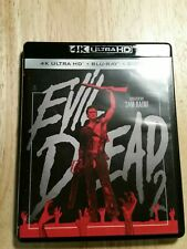 The Evil Dead 2 (4K Ultra Hd Blu-ray, 2018) Bruce Campbell 1987 no slipcover