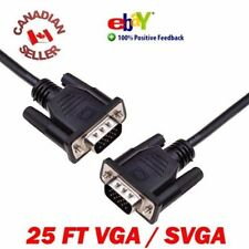 SVGA VGA Monitor M M Male to Male Quality Cable 25FT 7.5M FAST FREE SHIPPING