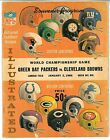 January 2 1966 Green Bay Packers vs. Cleveland Browns Championship Game Program