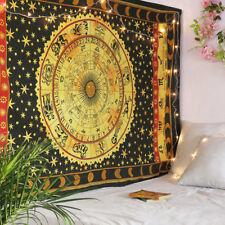 Indian Hippie Bohemian Horoscope Zodiac Wall Hanging Tapestry Twin Size Bedsheet