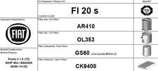 FI20S KIT 4 FILTRI TAGLIANDO  FIAT PUNTO 188 1.9 JTD 59 KW 80 CV