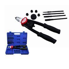 Rivet Gun Kit Hand Nut Tool Set Riveter Mechanic Work Garage Steel Threaded Home