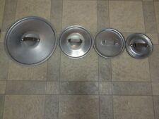 Lot of 4 Vintage Commercial Aluminum Cookware Calphalon Pot & Pan Lids Only Vgc+