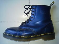 DOC DR MARTENS BLUE METALLIC BOOTS RARE VINTAGE MADE IN ENGLAND UNISEX 7UK W9 M8