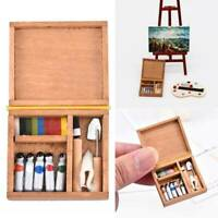 Dollhouse 1:12 Miniature Artist Wood Paint Supply Needle Box Tools Accessory _AU
