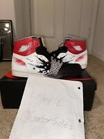 Nike Air Jordan 1 OG High Dave White Size 12 WINGS BLACK RED CEMENT 464803-001