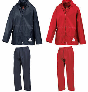 Result Kids Waterprood Jacket and Trouser Suit with Case, Children, Boys, Girls
