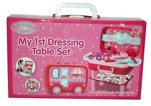 Girls My 1st Dressing Table Play Set & Accessories Portable Kids Toy 3 Years+