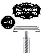 Wilkinson Sword Classic Double Edge Mens Safety Razor With Up To 50 Blades