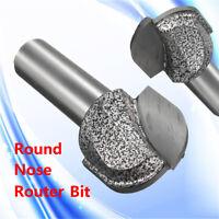 """1""""inch Cutting Diameter Tungsten Steel 1/2"""" Straight Shank Round Nose"""