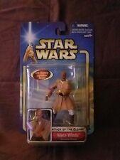 2002 Hasbro Star Wars Attack of the Clones Mace Windu Action Figure Nib