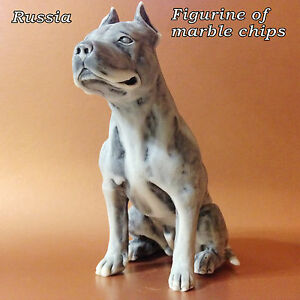 American Staffordshire Terrier Figur Hund Marmor-chips Souvenir aus Russland