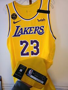 Lebron James 2019-20 Los Angeles Lakers NBA Finals Nike Authentic Jersey Size 52