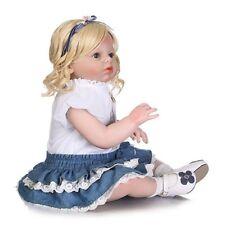 "28"" Lifelike Toddler Arianna Baby Soft Body Newborn Reborn Dolls Blond Hair Girl"