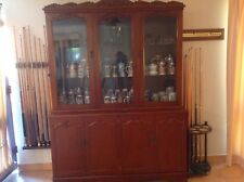 ANTIQUE VINTAGE BUFFET AND HUTCH, DISPLAY CABINET J MC CAIN FURNITURE
