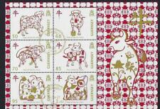 GUERNSEY 2021 YEAR OF THE OX MINIATURE SHEET FINE USED