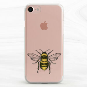 Vintage Yellow Bee Insect Case Cover For iPhone 6S 7 8 Xs XR 11 Pro Plus Max SE