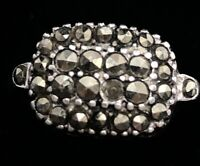 Vintage Sterling Silver Ring 925 Size 6 Marcasite Clark Coombs Signed Deco